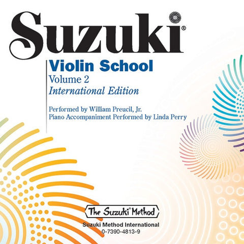 Suzuki Violin School, Volume 2 Violin Performance/Accompaniment CD