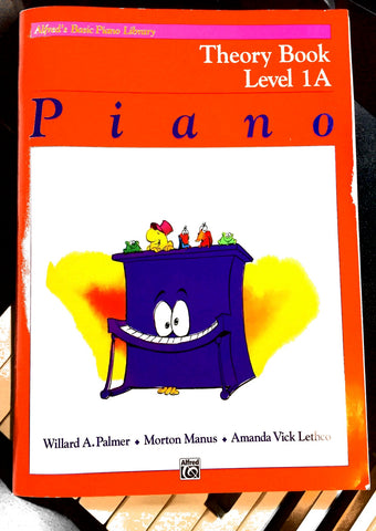 Alfred's Basic Piano Library - Theory Book Level 1A Front Cover