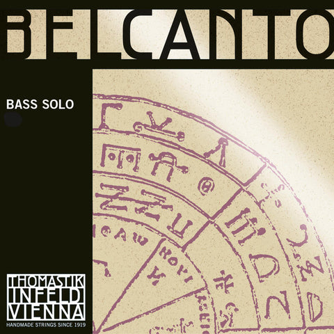 Belcanto Soloist Doublebass B (H1) rope core chrome wound E string 3/4 scale