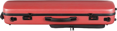 Oblong Scratch-Resistant Violin Case - Brushed Composite shell - 4 colors