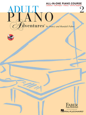 Faber Adult Piano Adventures All-in-One Lesson Book 2 Book/Online Audio