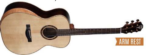 159 Series; Solid Spruce on Rosewood; Teton Acoustic Dreadnought Guitar with Arm Rest