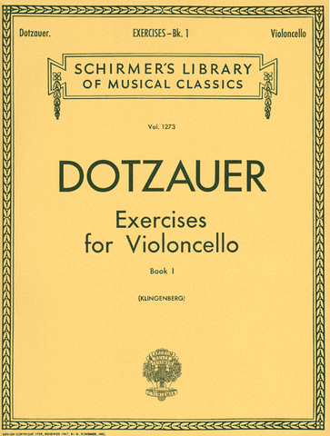 Dotzauer Exercises for Violoncello Vol. 1 Cover Image