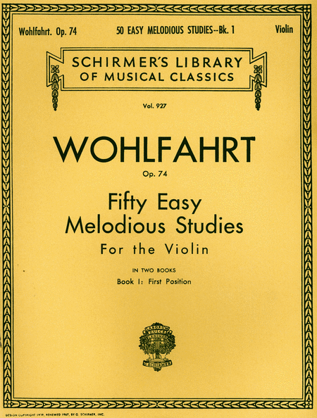 50 Easy Melodious Studies, Op. 74 - Book 1 cover image