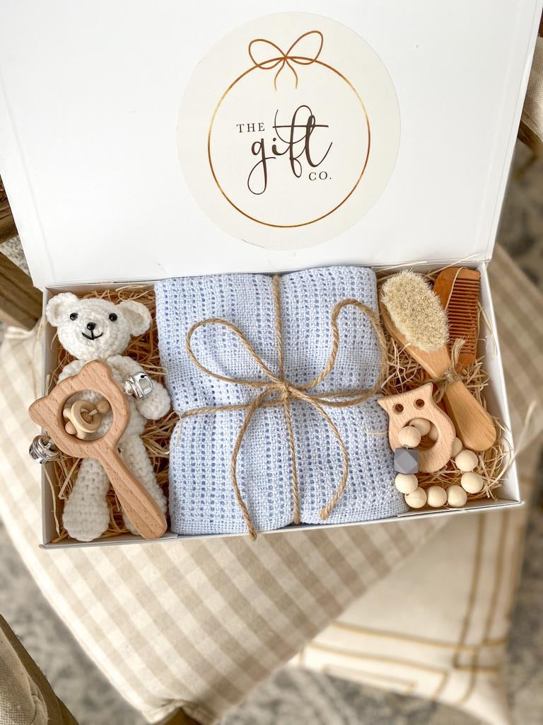 'Hey Baby' Gift Box - Available in Pink, Blue, Yellow & White