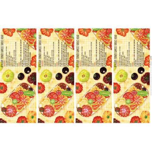 Heirloom Tomato Caprese Garlic Bread - Linen + Cotton [1yd]