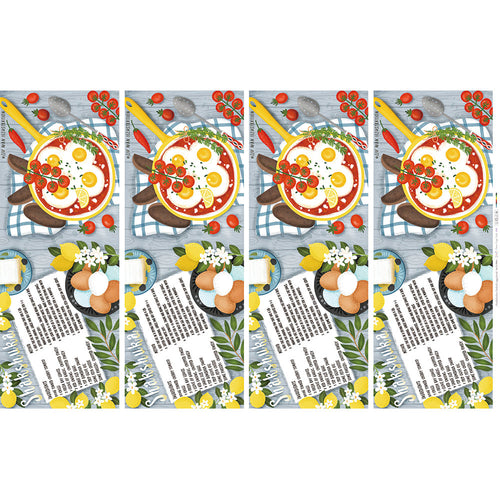 Shakshuka Baked Egg Food - Linen + Cotton [1yd]