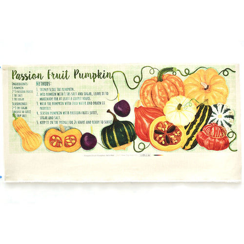 Passion Fruit Pumpkin - Linen + Cotton [1yd]
