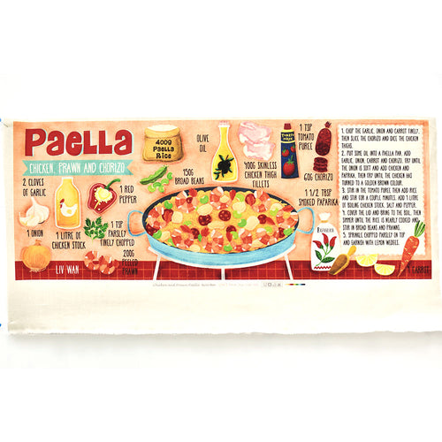 Chicken and Prawn Paella - Linen + Cotton [1yd]