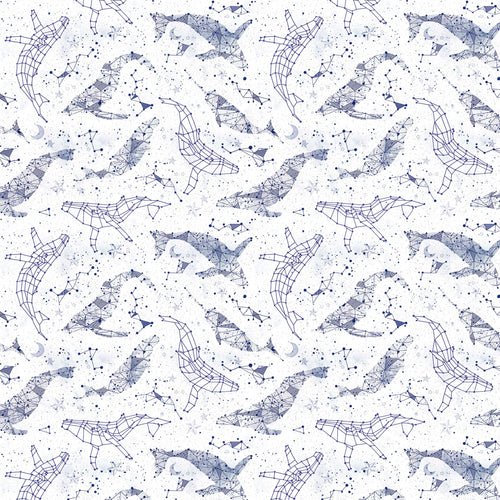 Whale Constellations - Quilting Cotton [1yd]