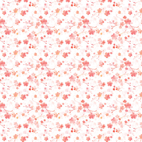 Cherry Blossom White - Quilting Cotton [1yd]