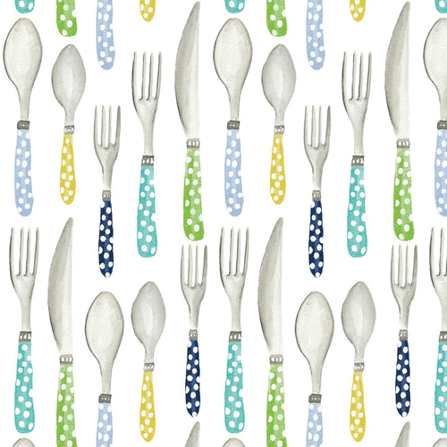 Picnic Utensils - Quilting Cotton [1yd]