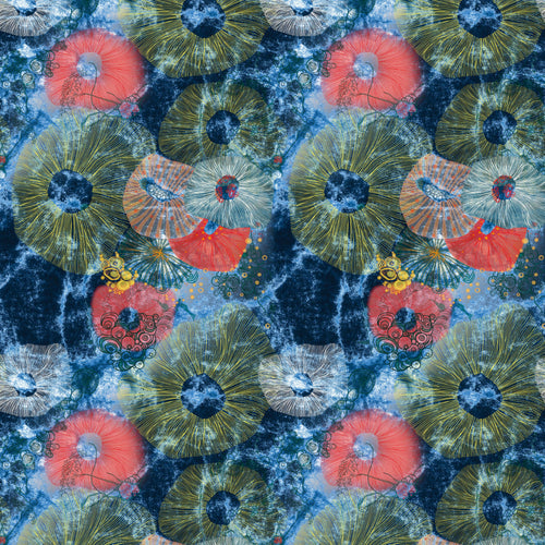 Life on the Reef Midnight - Quilting Cotton [1yd]