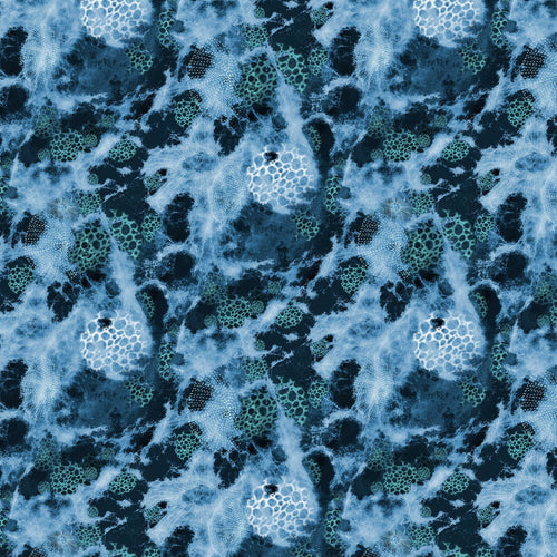 Seashells Deep Sea - Quilting Cotton [1yd]