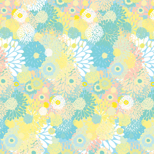 Spring Morning Flowers - Quilting Cotton [1yd]