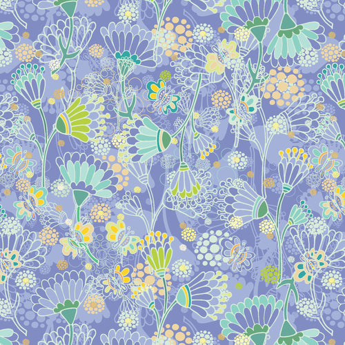 Spring Night Flowers - Quilting Cotton [1yd]