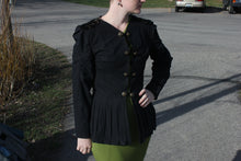Load image into Gallery viewer, Black Pleated Jacket - Vintage Pygmy