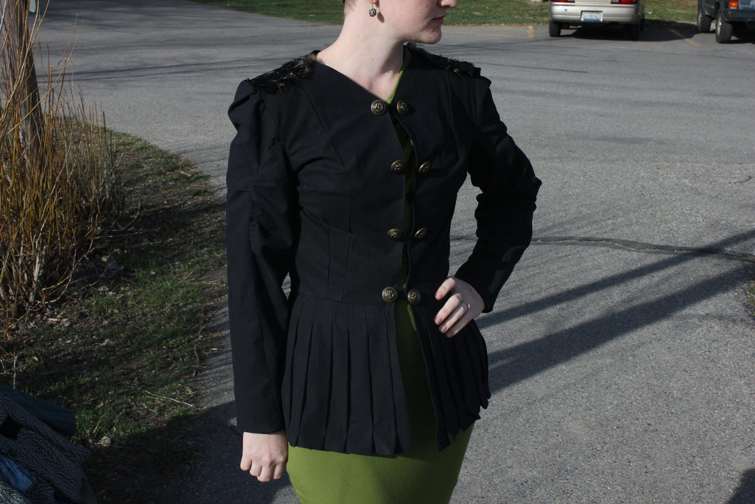 Black Pleated Jacket - Vintage Pygmy
