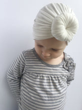 Load image into Gallery viewer, White Knotted Baby Turban - Vintage Pygmy