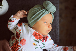 Sage Knotted Turban - Vintage Pygmy