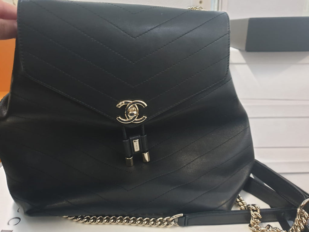PRE-OWNED CHANEL SOFT CALFSKIN BACKPACK - Boss Ladies