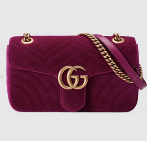 GUCCI MARMONT VELVET SHOULDER BAG