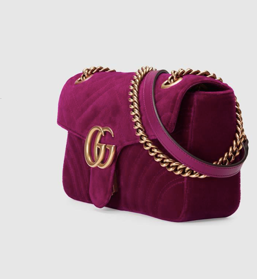 GUCCI MARMONT VELVET SHOULDER BAG - Boss Ladies