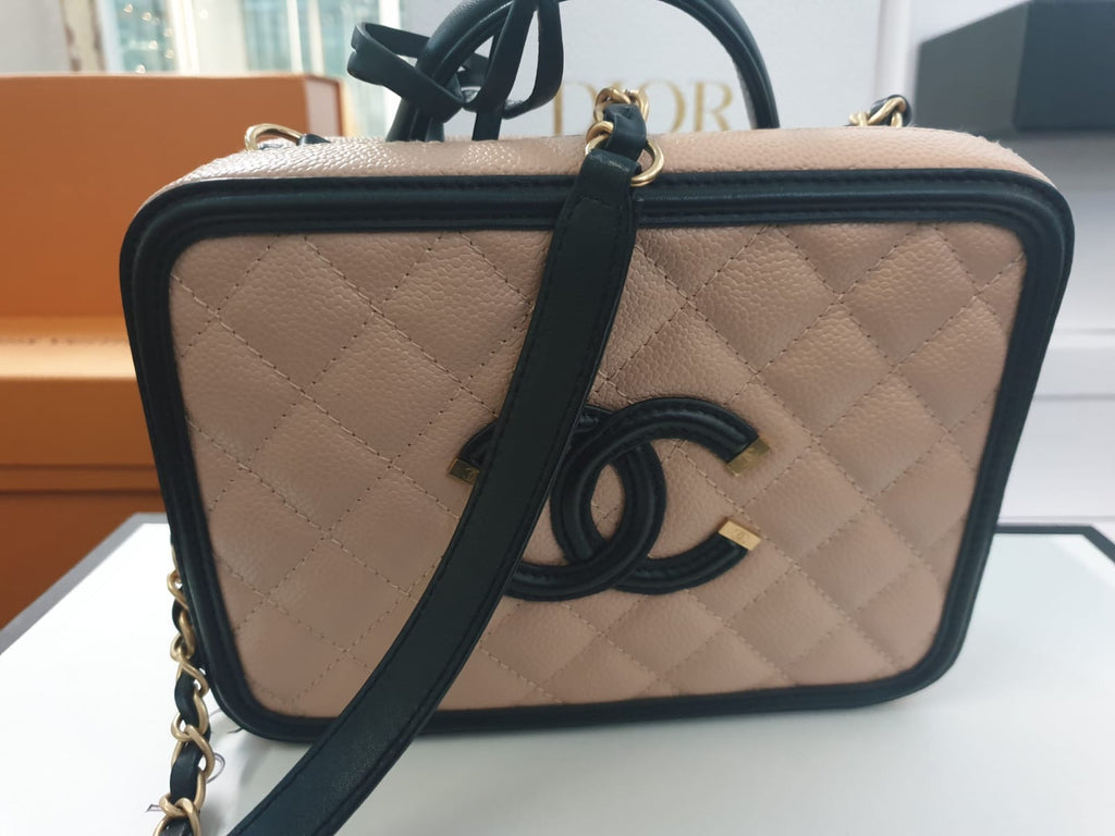 PRE-OWNED CHANEL VANITY CASE PINK - Boss Ladies
