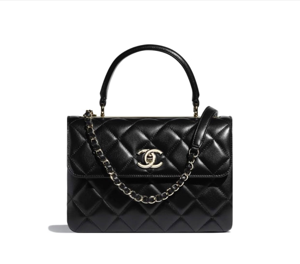 CHANEL SMALL FLAP BAG WITH TOP HANDLE - Boss Ladies