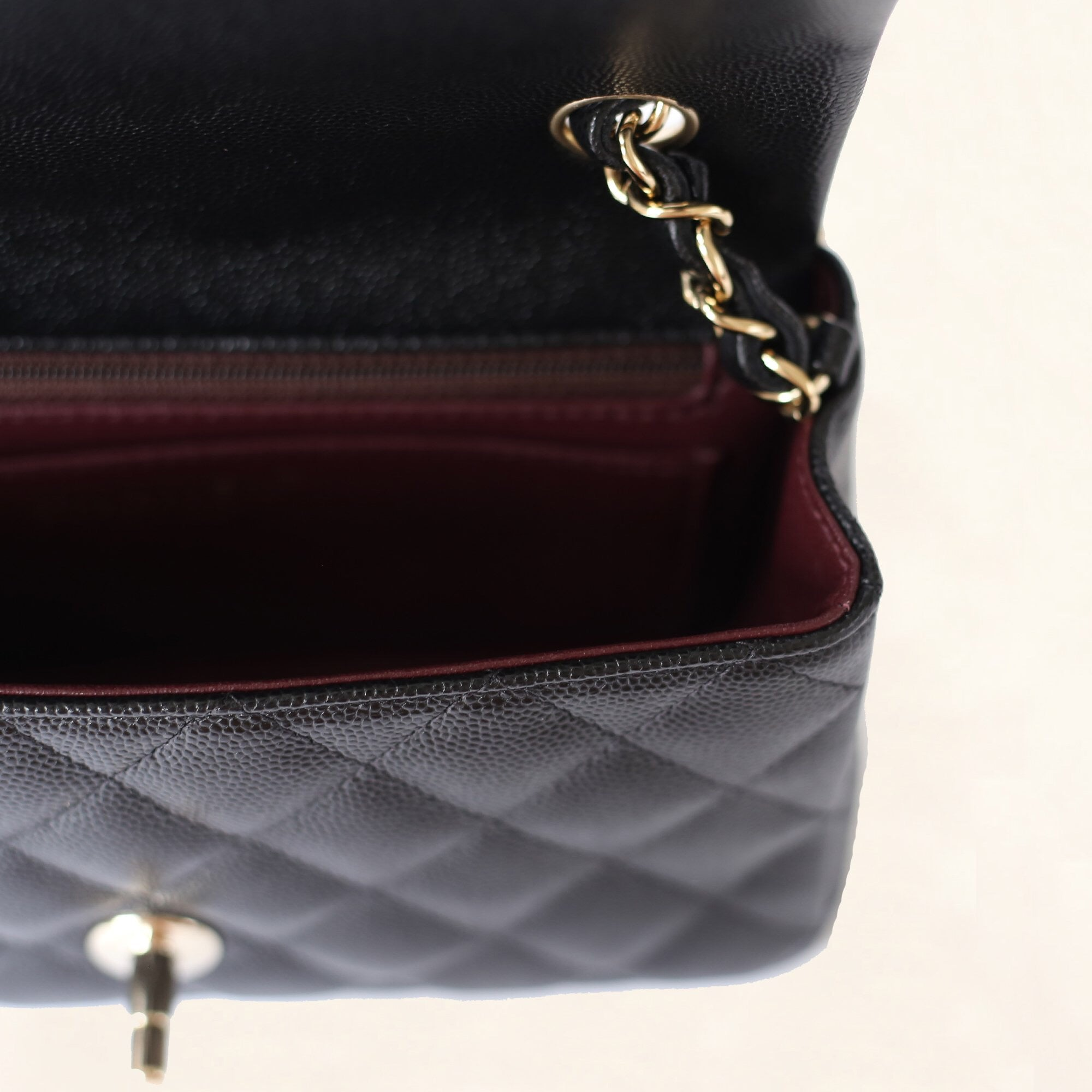 51eb3fa492cb43 ... Load image into Gallery viewer, CHANEL CAVIAR MINI RECTANGULAR FLAP BAG  ...