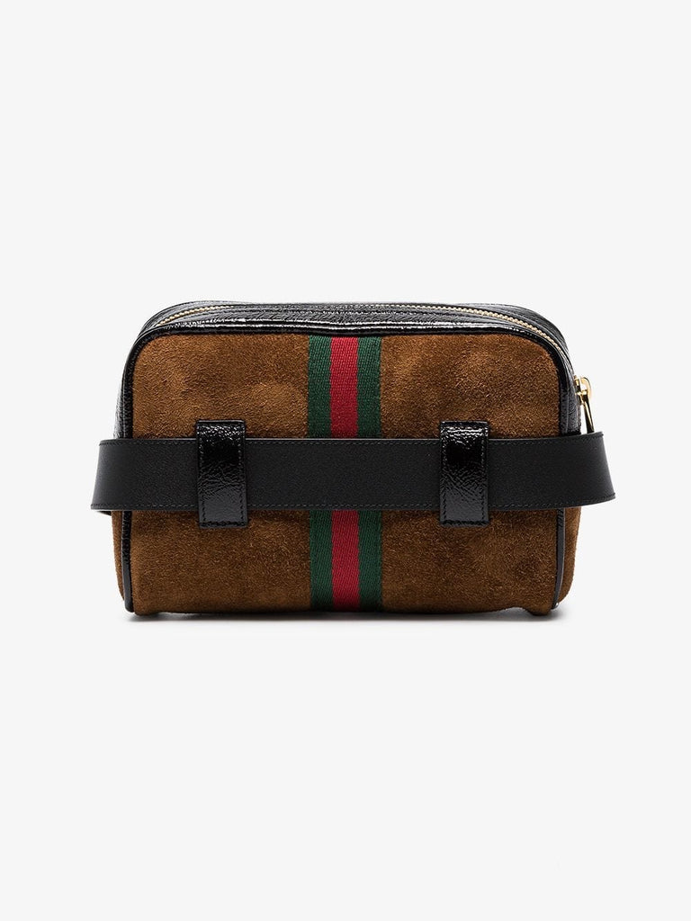 GUCCI OPHIDIA SMALL SUEDE BELT BAG - Boss Ladies
