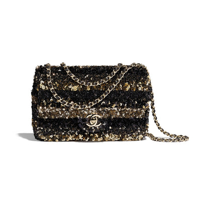 f1917227c2f0 Chanel. Flap Bag Sequins & Gold-tone Metal. Item Photo Item Photo