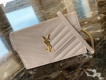 Load image into Gallery viewer, YSL ENVELOPE CHAIN WALLET BEIGE