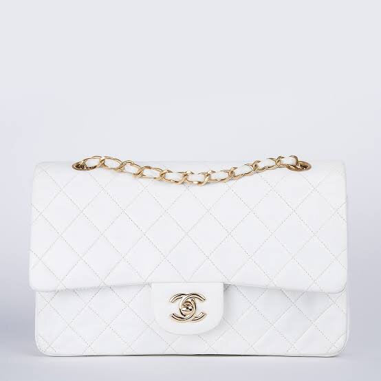 CHANEL CLASSIC HANDBAG (WHITE) - Boss Ladies