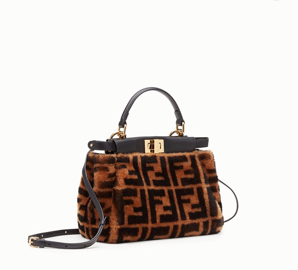 FENDI BROWN SHEEPSKIN BAG - Boss Ladies