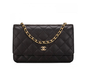 CLASSIC WALLET ON CHANEL GOLD CHAIN