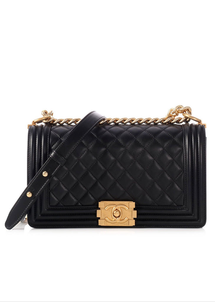 CHANEL MEDIUM BOY (LAMBSKIN) - Boss Ladies