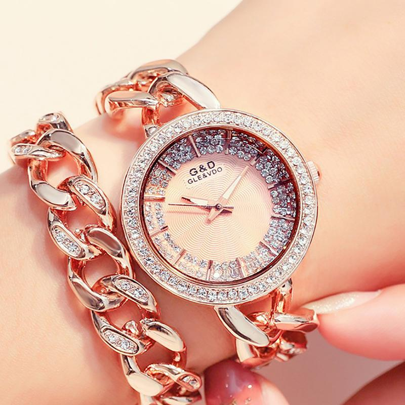 60% OFF Newly Fashion Luxury Diamond Bracelet Watch Worldwide Free Shipping