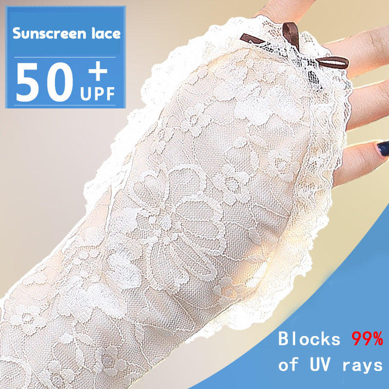 Summer Ice Lace Sunscreen Gloves