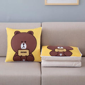 🔥🔥🔥buy two get one free🔥🔥🔥 Cartoon pillow quilt dual purpose