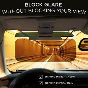 2-in-1 car sun visor for day and night