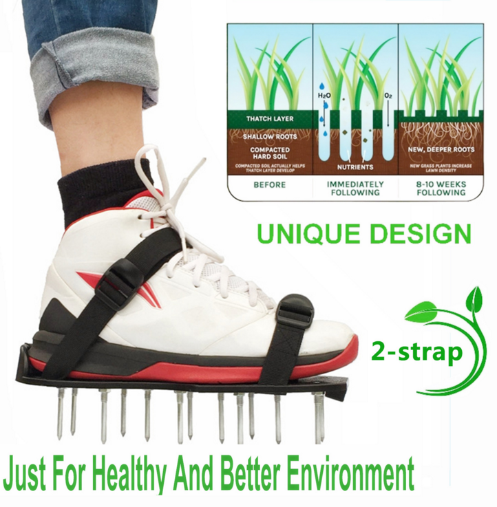 Lawn Aerator Spike Shoes - For Effectively Aerating Lawn Soil