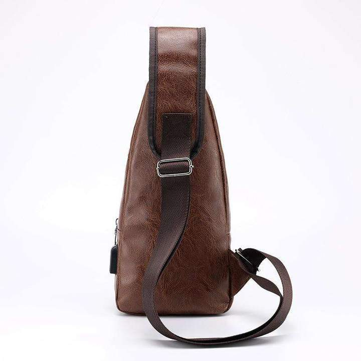 Father's Day Promotion-40%OFF-SCHNABEL™ LUXURY CROSSBODY BAG WITH USB
