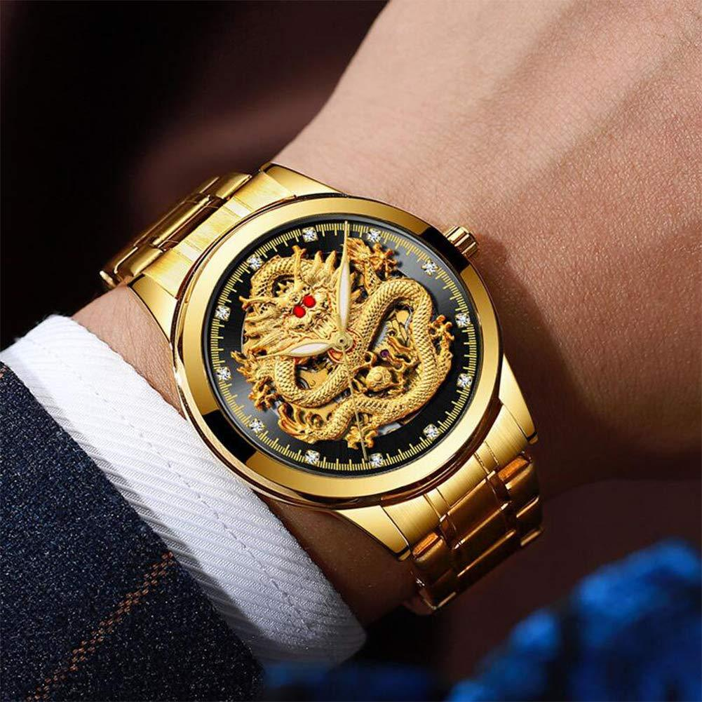 Father's Day gift(sell at a low price)Golden luxury waterproof fashion watch