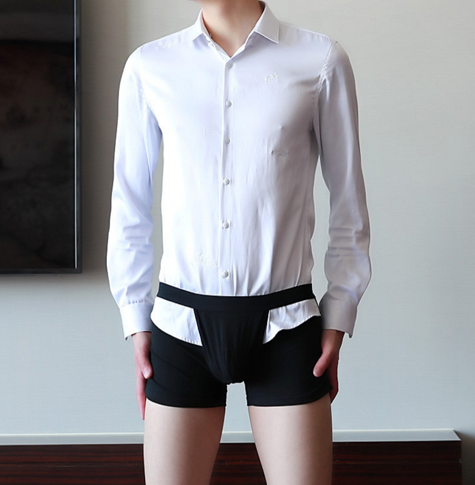 Father's Day Promotion(40%OFF)-Shirt anti-exposed underwear