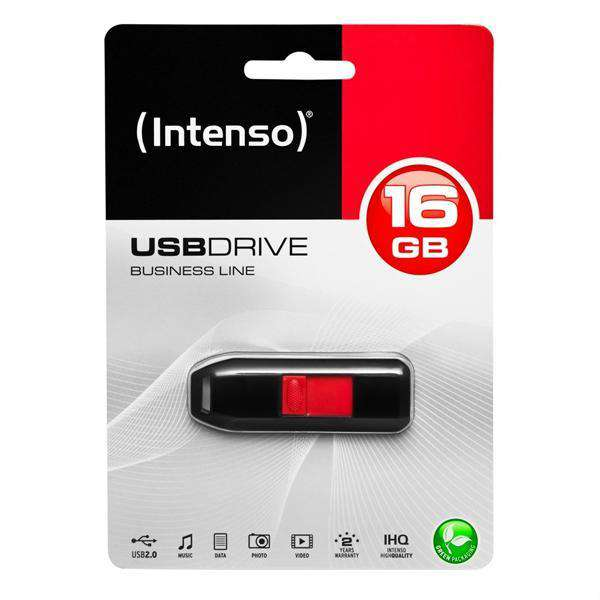USB stick INTENSO 3511470 16 GB Zwart