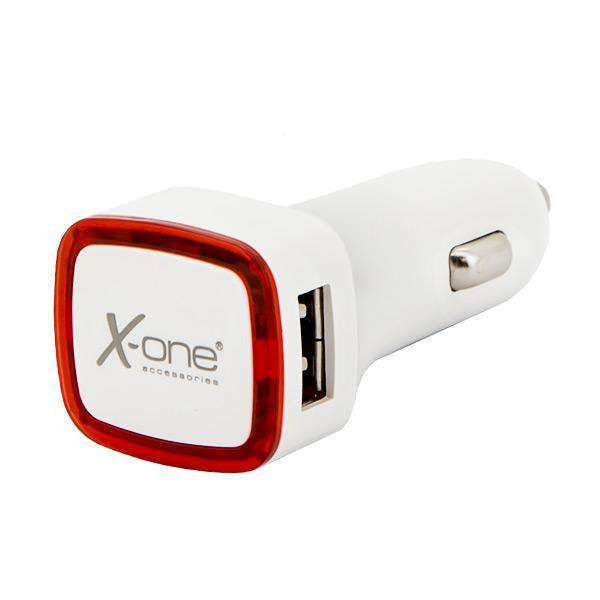 Auto oplader Ref. 138390 2 x USB-A Wit Rood