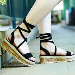 Emma Open Toe Wedges