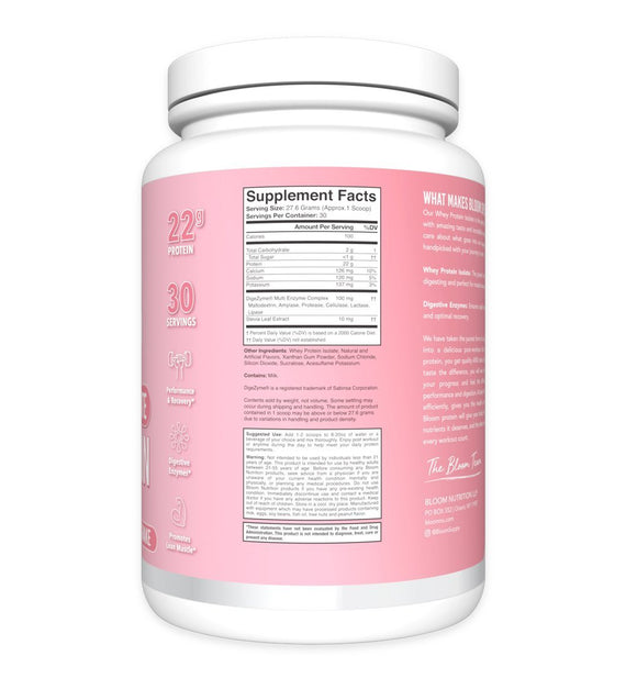 Strawberry Milkshake Whey Isolate Protein Supplement Facts