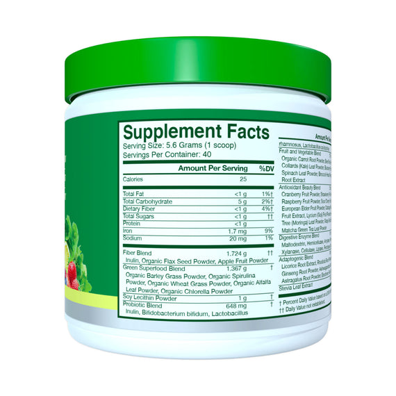 Citrus – 30 Ct Greens & Superfoods Supplement Facts